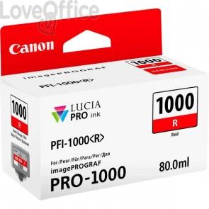 Originale Canon inkjet 0554C001 Cartuccia PFI-1000R - 80 ml - rosso