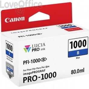 Originale Canon inkjet 0555C001 Cartuccia PFI-1000B - 80 ml - blu