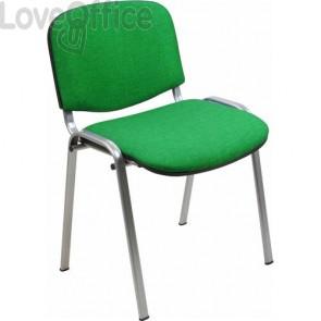 sedia attesa in polipropilene di colore grigio con gambe grigie