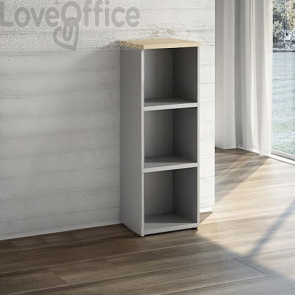 Mobile Libreria a giorno LineKit - Acero - 2 ripiani - 45x40,1x129,3 cm