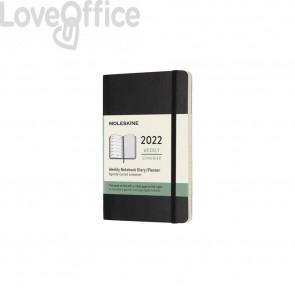 Agenda 2022 12 mesi settimanale pocket 9x14 cm copertina morbida Moleskine nero DSB12WN2Y21