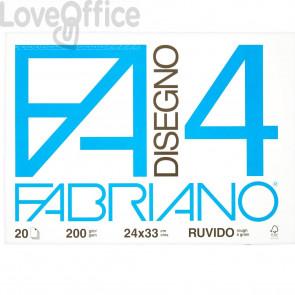 Album disegno Fabriano F4 - Ruvido - 24x33 cm - 200 g/mq - 20 fogli
