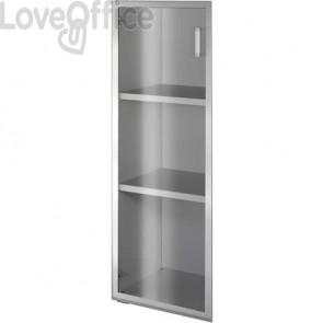 Anta alluminio-vetro Alessandria 45x130 cm destra