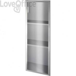 Anta alluminio-vetro Unisit Spirit 45x130 cm sinistra