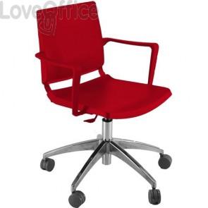 sedia attesa rossa girevole