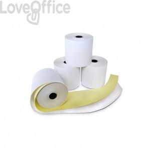 Rotoli POS Rotolificio Pugliese carta chimica autocopiante 57 mm x 15 m foro 12 mm - 53 gr/mq (conf. da 5)