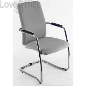 sedia da ufficio operativa di colore grigio