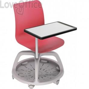 Seduta didattica con tavolo scrittoio - Banco Scuola rosso College