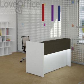 Banco Reception Lineare Avant LineKit - 125,6 cm - Wengè