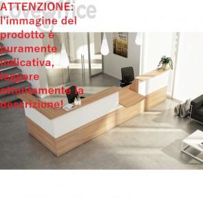 Bancone reception lineare 4 metri Musa Artexport -  Noce arabis