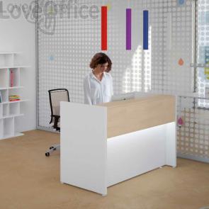 Banco Reception Lineare Avant LineKit - 125,6 cm - Rovere