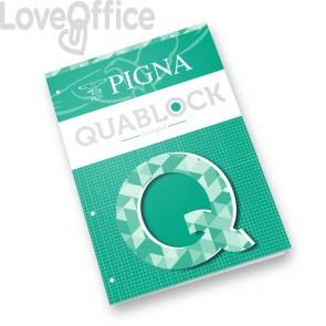 Blocchi collati Quablock Pigna - A4 - 4 mm - 50 fogli (conf.5)