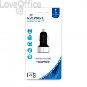 Caricabatteria per auto Media Range 3.4A dual USB nero/argento MRMA103-02