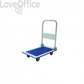Carrello in metallo con maniglia pieghevole Viso 730x475x830 cm blu - 150 kg