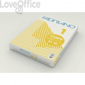 Carta per fotocopie A3 Fabriano COPY 1 bianco A3 42x29,7 cm 80 g/mq risma da 500 fogli