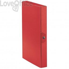 Scatole portaprogetti Eurobox Esselte - dorso 4 cm - 25x35 cm - rosso (conf.5)