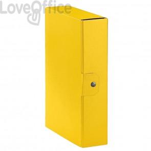 Scatole portaprogetti Eurobox Esselte - dorso 8 cm - 25x35 cm - Giallo (conf.5)