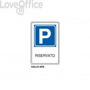 """Cartello segnaletico """"Parcheggio riservato'' 25x45 cm"""