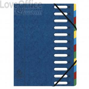 Classificatore Harmonika® Exacompta 12 divisori - 24,5x32 cm blu