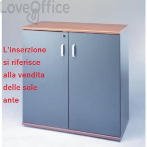 Coppia ante per mobili Unisit Venice media larghezza 90x90 cm Antracite UVEAT99