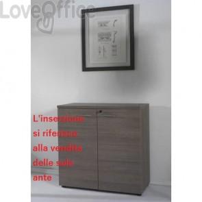 Coppia ante mobile basso Frensy Larix media larghezza 90x90 cm rovere grigio ULAGAT99