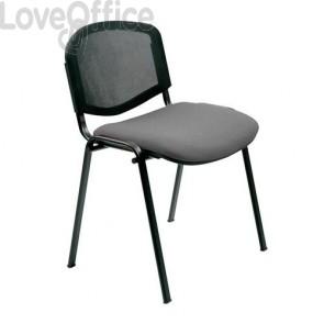 sedie da attesa grigie in polipropilene modello Agata