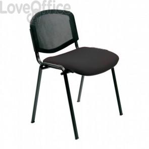 Sedia nera da attesa per ufficio modello Agata