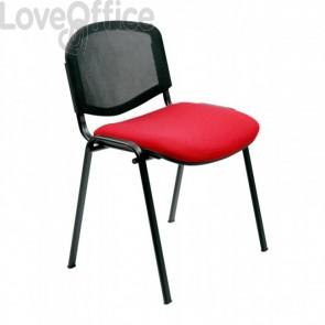 sedie attesa rossa in polipropilene di Unisit