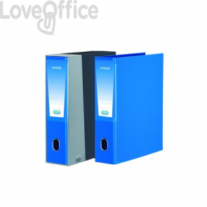 registratore a leva azzurro