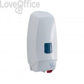Dispenser elettronico detergenti liquidi cm 12,5x13x27,5 QTS in ABS capacità 1000 ml bianco 5008B/TOE