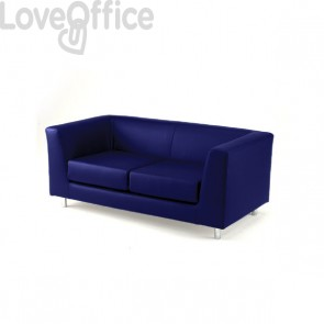 Divano 2 posti - divano sala attesa QUAD UNISIT - ignifugo - BLU - QD2/IB