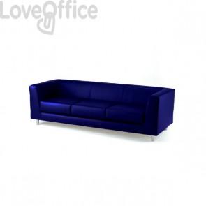 Divano 3 posti - divano sala attesa QUAD UNISIT - fili di luce - BLU - QD3/F11