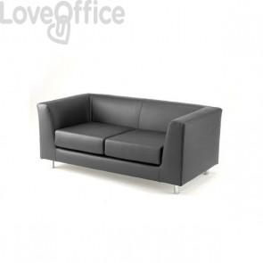 Divano 2 posti - divano sala attesa QUAD UNISIT - ignifugo - ANTRACITE - QD2/IT