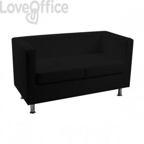 Divanetto attesa - divano 2 posti in similpelle - PRAGMA UNISIT - NERO - PR2/KN