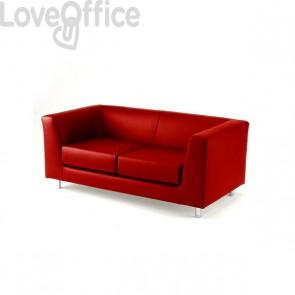 Divano 2 posti - divano sala attesa QUAD UNISIT - ignifugo - ROSSO - QD2/IR