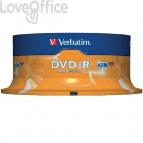 DVD-R Verbatim AZO - 4,7 Gb - 16x - Spindle - 43522 (conf.25)