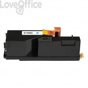 Toner Compatibile C13S050613 per Epson AcuLaser C1700/C1750/CX17 Ciano series - 1400 Pagine