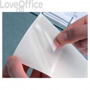 Etichette adesive Q-Connect A6 trasparenti (conf.10)