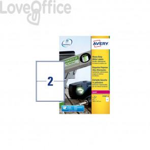 Etichette in poliestere Avery - laser - bianco - 199,6x143,5 mm (40 etichette)