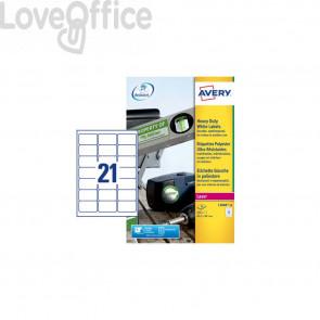 Etichette in poliestere Avery - laser - bianco - 63,5x38,1 mm (420 etichette)