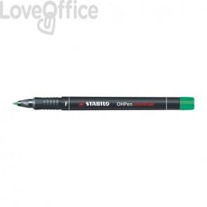 Stabilo Pennarelli indelebili verdi - Stabilo OHPen Universal - fine - 0,7 mm (conf.10)