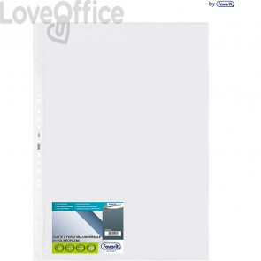 Favorit buste trasparenti foratura universale - Super Clear - alto spessore - 50x70 cm - Liscio (conf.10)
