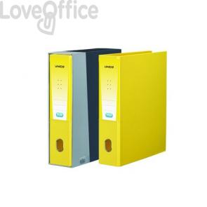 registratore a leva giallo con custodia