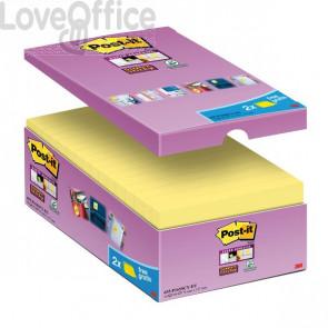 Foglietti Post-It® Super Sticky Value Pack - 76x127 mm - Giallo Canary™ (conf. 16 blocchetti)