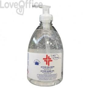 Gel igienizzante mani (alcol 70%) da 500 ml con dosatore