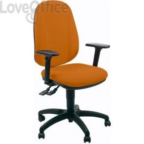 sedia ufficio girevole arancio in polipropilene