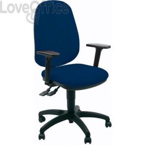 sedia ufficio girevole blu con tessuto ignifugo modello gigi