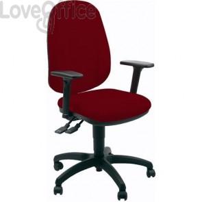 sedia ufficio girevole rossa con tessuto ignifugo
