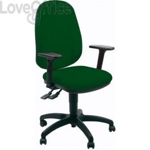 sedia ufficio girevole verde in polipropilene