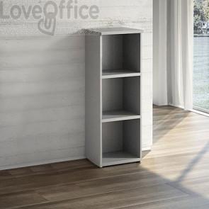 Mobile Libreria a giorno LineKit - Grigio - 2 ripiani - 45x40,1x129,3 cm